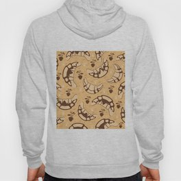 Seamless croissant background Hoody