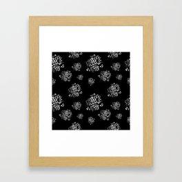 Wild Dots Black Framed Art Print