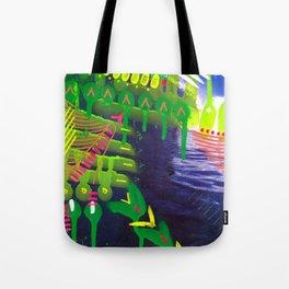 Wave green Tote Bag