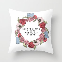 Color Reproductive Rights Human Rights Throw Pillow
