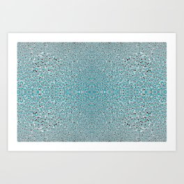 Abstract Water Drops in Aqua Art Print