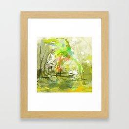 Avacado Monster Framed Art Print