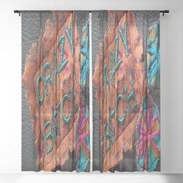 Crazy Bitch Sheer Curtain