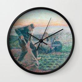 Digging farmer by Jan Toorop, 1888 Wall Clock