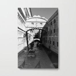 Venice water road Metal Print