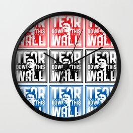 AMERICA : Ronald Regan : Tear Down This Wall Wall Clock