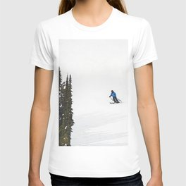 Downhill Skier - Winter Sports Scene T-shirt