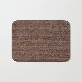 NYC Big Apple Manhattan City Brown Stone Brick Wall Bath Mat