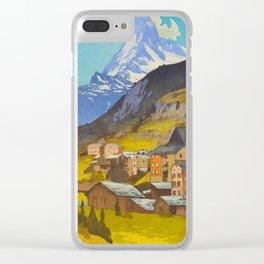 The Matterhorn 1925 Hiroshi Yoshida Vintage Japanese Woodblock Print Clear iPhone Case