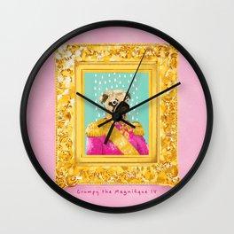 Pug the Magnifique Wall Clock