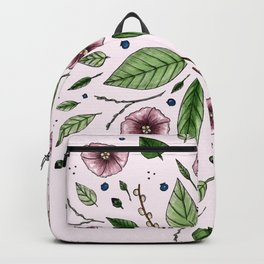 Hanging Among the Flowers & Leaves (PINK) Backpack