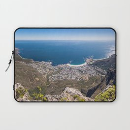 Panoramic view of Camps Bay from Table Mountain in Cape Town, South Africa Laptop Sleeve