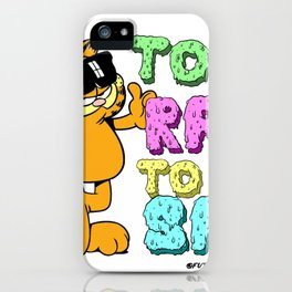 Too Rad to be Sad Garfield the Cat iPhone Case