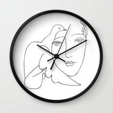 face - dove Wall Clock