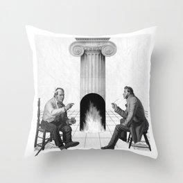 Structuropetal Throw Pillow