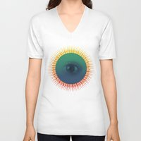 third eye V-neck T-shirts featuring Third Eye by ochre7