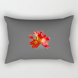 Red Natal Lily Rectangular Pillow