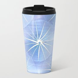 Paper Parasols (blue) Travel Mug