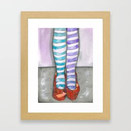 red shoes Framed Art Print