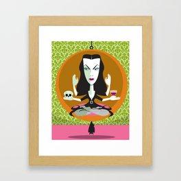 Mid-Century Monster Framed Art Print
