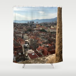 View From The Cathedral of Saint Domnius Shower Curtain