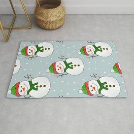 Christmas Snowman Pattern  -  Merry Christmas Rug