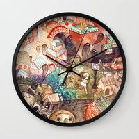 spirited away Wall Clocks featuring Spirited Away by Foya