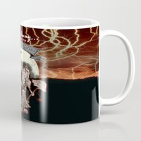 rock n roll Mugs featuring Rock 'N' Roll Circus by Melissa Morrison