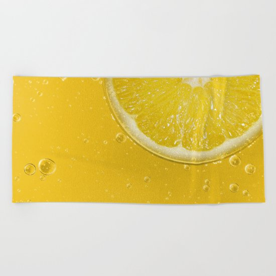 Lemon Thirst Quencher Beach Towel