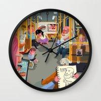 budapest Wall Clocks featuring Budapest underground by Zsolt Vidak
