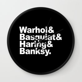 Artists B Wall Clock