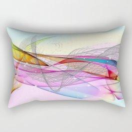 Line 1 Pattern by Nico Bielow Rectangular Pillow