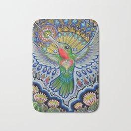 Hummingbird & Cactus - Beija Flor III Bath Mat