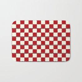 Red Chess Bath Mat