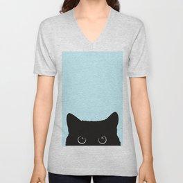 Black cat I Unisex V-Neck