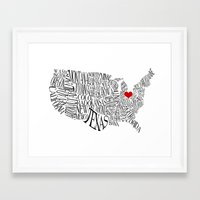 ohio Framed Art Prints featuring Ohio by Taylor Steiner