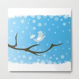 Bird on a tree Metal Print