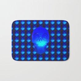 Blue Crystal Skull Bath Mat