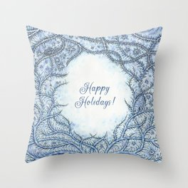 Happy Holidays! Throw Pillow