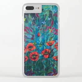 Garden of Poppies by Toni Wright Clear iPhone Case