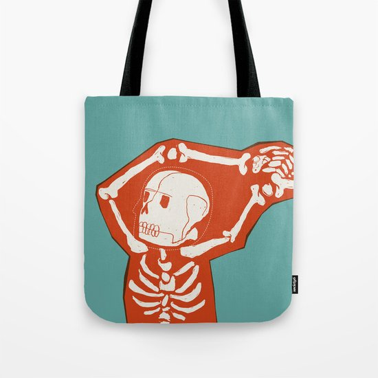 Overlay Skeleton Tote Bag