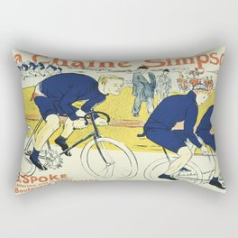 Vintage poster - La Chaine Simpson Rectangular Pillow