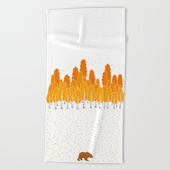 Birch and Bear Beach Towel