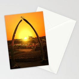Whitby Whalebones Sunrise  Stationery Cards
