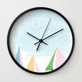 Sails for mee Wall Clock
