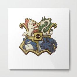 Ghibliwarts Crest Metal Print