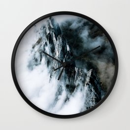 Magic Mountain in a sea of clouds Wall Clock