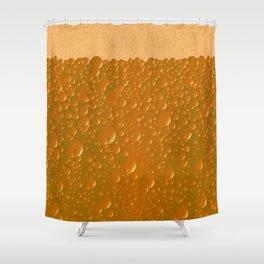 Orange Shade Bibble Background Shower Curtain