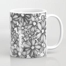Etchy Flower Coffee Mug