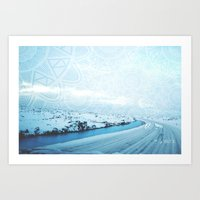 iceland Art Prints featuring Iceland by Inga Ink Art